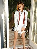 Brunette cutie posing nude