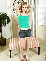 Chastity massages slippery baby oil over gher precious teen body