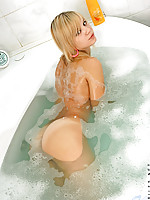 Glamorous ametista goes wet and grabs her tits softly in her bathroom