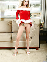 Chastity is checking her list and checking it twice to find out who has been naughty or nice.