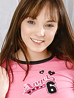 Adorable teenie spreads and fingers with her tasty pink pussy