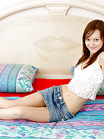 Petite Nubile Arianna gets to know her teen body with her fingers
