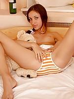 Toples now with her hands almost down her panties masha is having fun