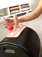 Celeste carefully lubes up her twat and sybian machine before sitting on it and getting off