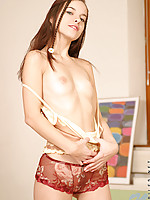 Already topless kim starts to inch her panties down she is fuckin smoking