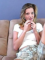 Check out this hottie talking about her favorite big yellow dildo