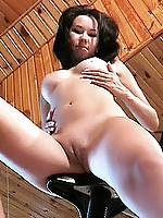 Venus gives us a peak at her perfectly tight virgin vagina