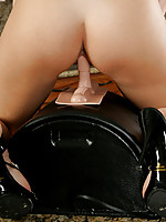 Kara savors her experience with the sybian and makes sure that she fucks it in every position possible.