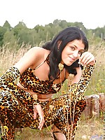 Innocent looking ola posing all day long in the fields