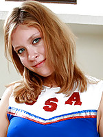 Virtuous nubile Sara tells how she has always dreamed of being a cheerleader