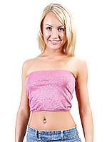 Nubile siren valentina flaunts her hypnotic body in a short jean skirt