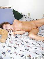 Tiny tits teen loves to masturbate with vibrator