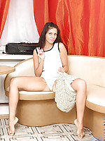 Korina grabs a handful of her soft sensual breasts