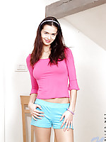 Watch this cute teenie jennifer have some fun in her skirt she is about to take off