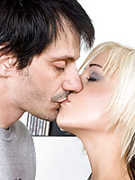 Horny nubile kody passionately kisses the dude she is about to fuck