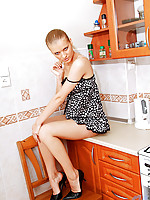 Sultry teen coolmona massages her small perky breasts and caresses her nipples