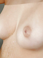 Check out this hotties small boobies she lifts her arms up and pulls her shirt off