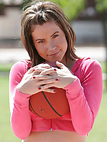 Let this sexy teen show you how her round tits bounce up and down when she plays basketball
