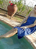 Angie gets her feet wet while she contemplates what to do next