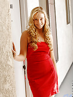 Hot girl cristal has golden curls and a great set of cans she likes to show