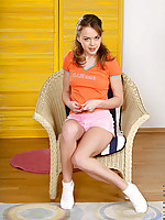 Lola stripps down to her pink bra and panties