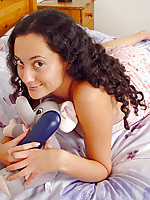 Caressing her boobies jordan sits in black torn stocking on her office chair