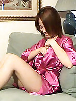 Hot alluring amateur getting interviewed on the sofa